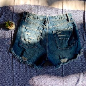 High Waist Good American Jean Shorts
